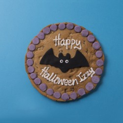 Halloween Bat Chocolate Chip Cookie Card