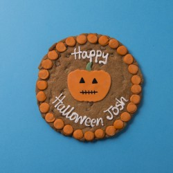 Halloween Pumpkin Chocolate Chip Cookie Card