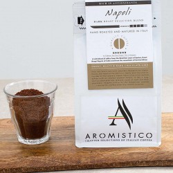 Premium Artisan Ground Coffee Hand Roasted And Matured In Italy Napoli - Dark Roast Selection Blend