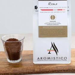Premium Artisan Ground Coffee Hand Roasted And Matured In Italy Roma Blend