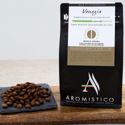 Aromistico Coffee Intense Light Roast Premium Italian Roasted Whole Coffee Beans Venezia Blend