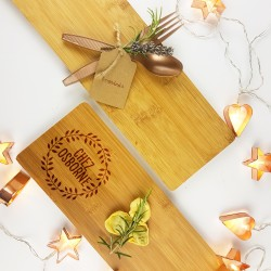 Personalised Chez Christmas Serving Board