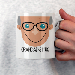 Personalised Grandad Face Mug