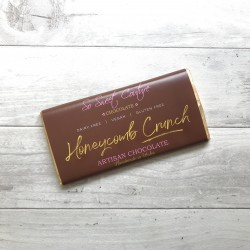 Dairy Free Alternative to Milk Chocolate Bars with Honeycomb