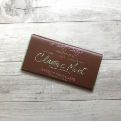 Dairy Free Alternative to Milk Chocolate Bars with Mint