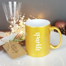 Golden Sparkle Christmas Gift Mug