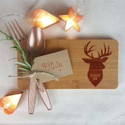 Stag Christmas Coaster