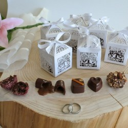 Vegan Personalised Organic Chocolate Favour Boxes