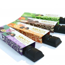 Raw Chocolate Bars with Cream Centres (4 bars)