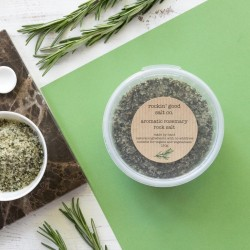 aromatic rosemary rockin' good salt co pinch pot