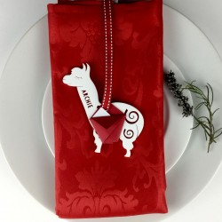 Personalised Alpaca Christmas Place Settings Set of 2