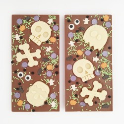 2 Halloween Milk Chocolate Slabs