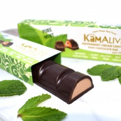 3 Raw Chocolate Bars with Pure Mint Cream Centres