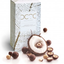 Hazelnuts Coated in Raw Craft 'Milk' Chocolate with Coconut Water
