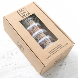 gift set of 6 flavour infused rock salts