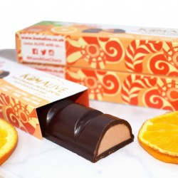 Raw Chocolate Bars with Wild Orange Cream Centres (3 bars)