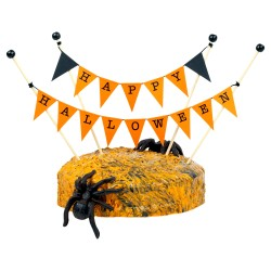 Cake Topper Bunting 'Happy Halloween'