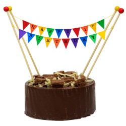 Cake Topper Bunting 'Happy 1st Birthday' Small Multi-coloured Flags
