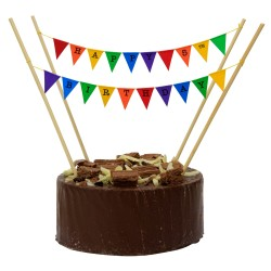 Cake Topper Bunting 'Happy 5th Birthday' Small Multi-Coloured Flags