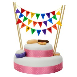 Cake Topper Bunting 'Happy Birthday Grandma' Small Multi-coloured Flags