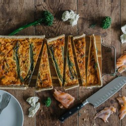 Smoked Salmon, Broccoli & Ricotta Quiche