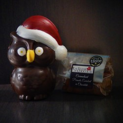 Snowy the Owl with Award Winning Caramelised Peanuts Enrobed in Peanut Butter and Chocolate