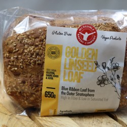 Golden Linseed Loaves of Bread (Gluten free, Vegan, Soya free)
