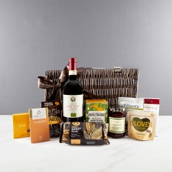 The Organic Red Wine Wicker Hamper