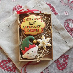 Elf Christmas Biscuit Gift Box