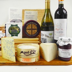Gourmet Cheese & Wine Hamper with Tasting Notes