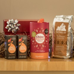 Gift Hamper for Coffee Lovers (Premium Turkish Coffee, Spice Drops and Indian Spiced Shortbread)