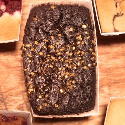 Vegan Super Dark Brownies (Gluten free, no added sugar)
