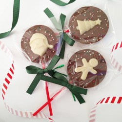 4 Festive Chocolate Lollies