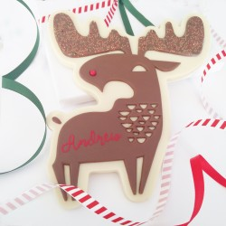 Large Personalised Christmas Chocolate Reindeer