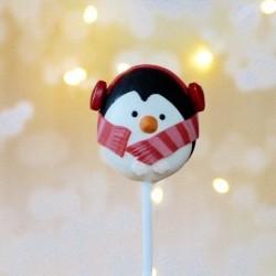 4 Christmas Gluten Free Penguin Cake Pops