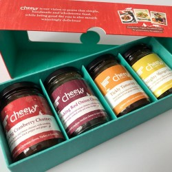 Chutney Lovers Gift Box - Selection of Four Gluten-free Chutneys for Cheese