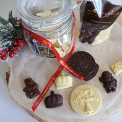 Personalised Christmas Chocolate in a Large Jar or Medium Bag (Soya & Gluten Free)