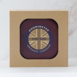 Godminster 1kg Vintage Organic Cheddar in a Gift Box