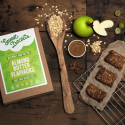 Sweet Deceits Almond Butter Flapjack with Ingredients