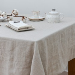 Washed Linen Natural Classic Tablecloth
