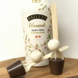 Three Dairy Free Hot Chocolate Stirrers with Baileys Almonde