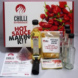 Chilli Hot Sauce Making Kit - With 4 Different Spice / Chilli Mixes