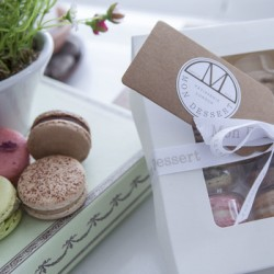 Luxurious Classic Macarons Box of 12  (Made with Organic Ingredients)