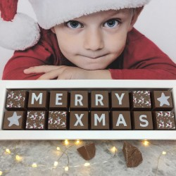 Personalised Merry Xmas Christmas Chocolates