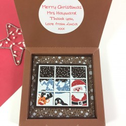 Christmas Chocolate with Santa and Friends with Personalised Message