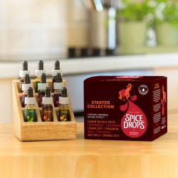 Starter Spice Drops® Collection with Wooden Spice Rack