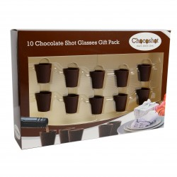 Chocoshot 10 Chocolate Shot Glasses Gift Pack
