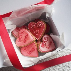 Personalised Mini Heart Cookies Valentines Gift Box