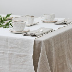 Washed Linen Vanilla Classic Table Runner