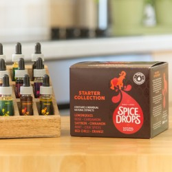 Starter Spice Drop Collection (with wooden spice rack)